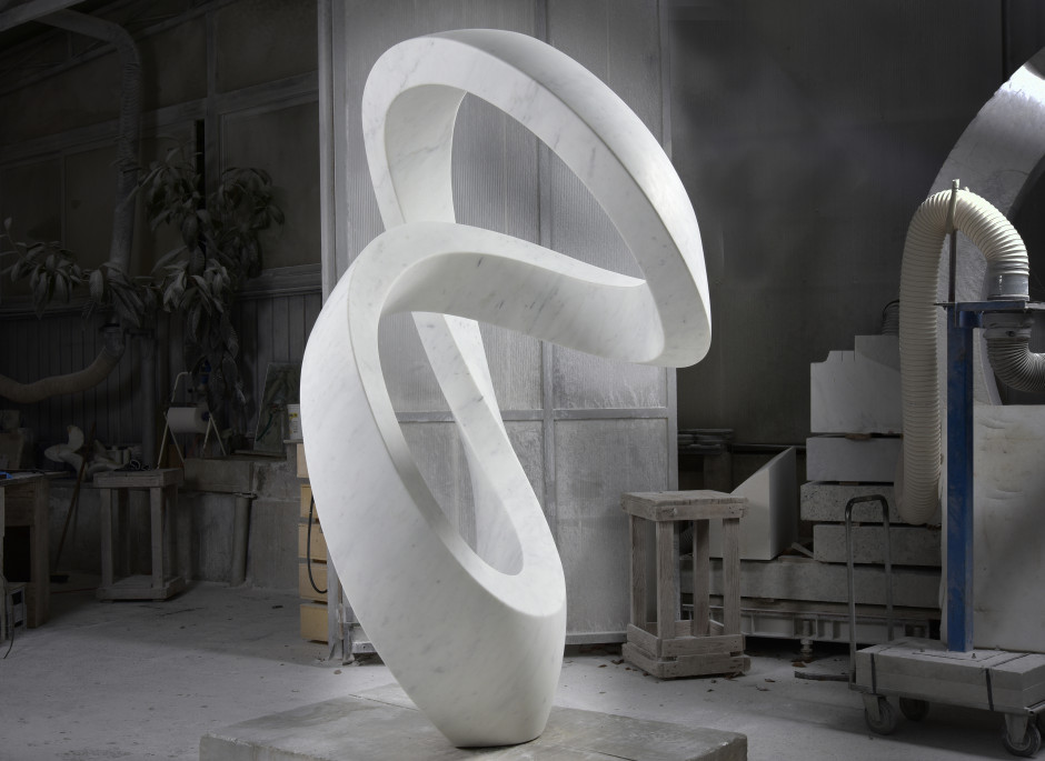 Spira, one of five in a series of marble sculptures made for Whipple Russell Architects